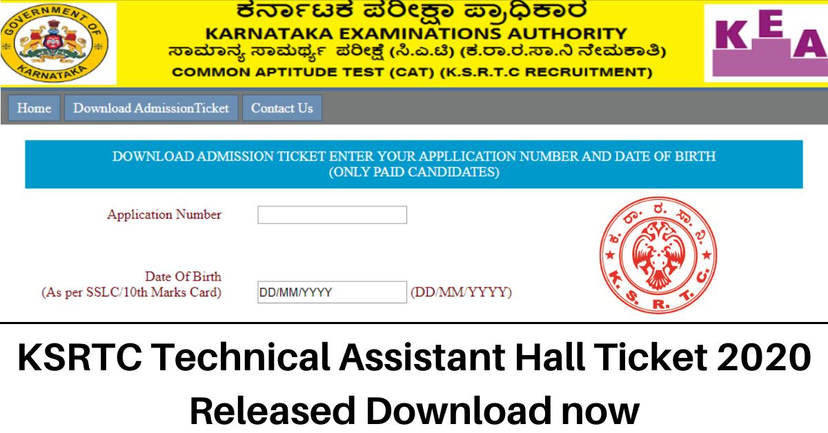 KSRTC Technical Assistant Syllabus 2020 | Download KSRTC Technical Assistant Exam Pattern @ ksrtc.in